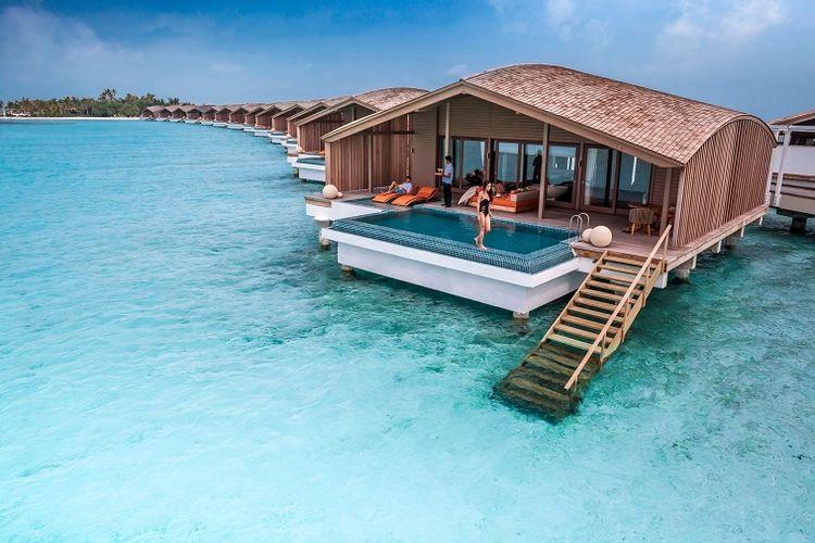 Tipe vila milik Club Med Finolhu, Maldives.