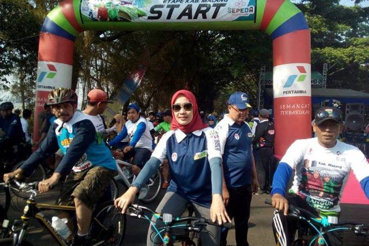 Sepeda Nusantara 2018 digelar di Kota Malang, Sabtu (15/9/2018), setidaknya diikuti sekitar 3500 peserta