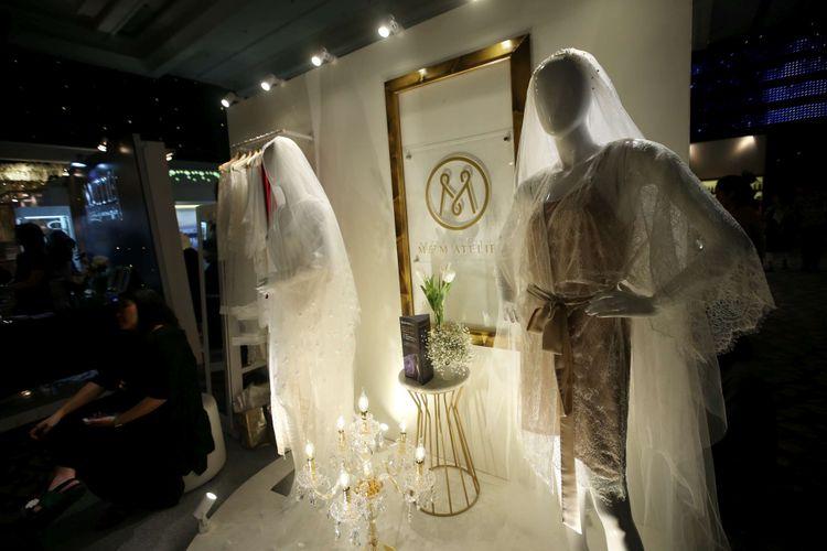 Suasana pameran pernikahan Bride Story Fair di Grand Ballroom Sheraton Grand Jakarta di Gandaria City Hotel, Jumat (9/2/2018). Pameran ini diikuti lebih dari 100 vendor pernikahan terkurasi yang mengusung tema pernikahan pada 2018 yaitu Stardust.