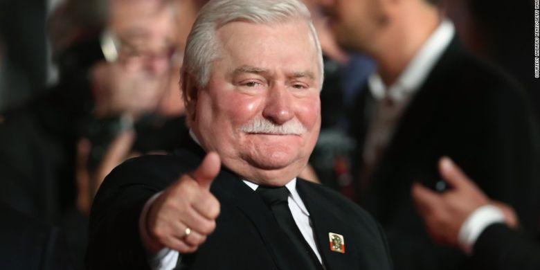 Lech Walesa, tokoh demokrasi sekaligus mantan Presiden Polandia.