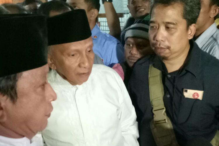 Mantan Ketua MPR Amien Rais di Kompleks Parlemen, Senayan, Jakarta.