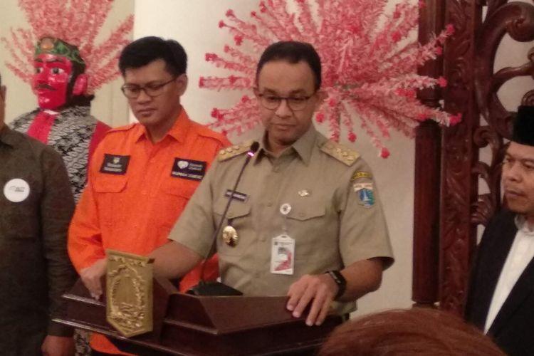 Gubernur DKI Jakarta Anies Baswedan di Balai Kota DKI Jakarta, Selasa (14/5/2019).
