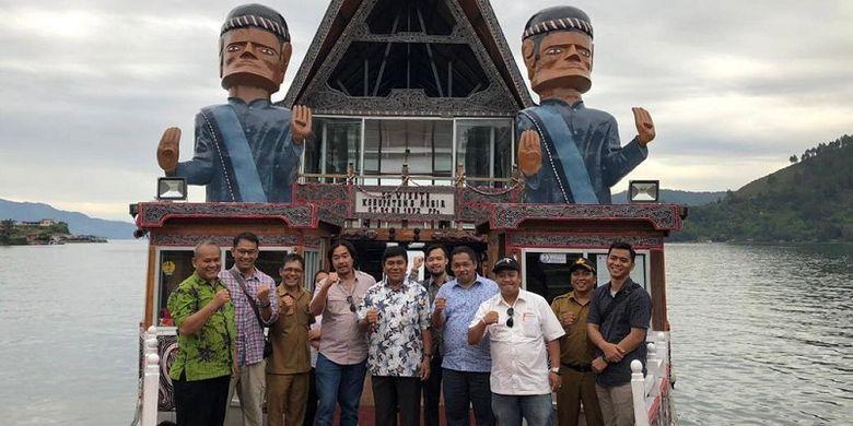 Kemenpar melakukan site visit bersama calon investor di Danau Aek Natonang