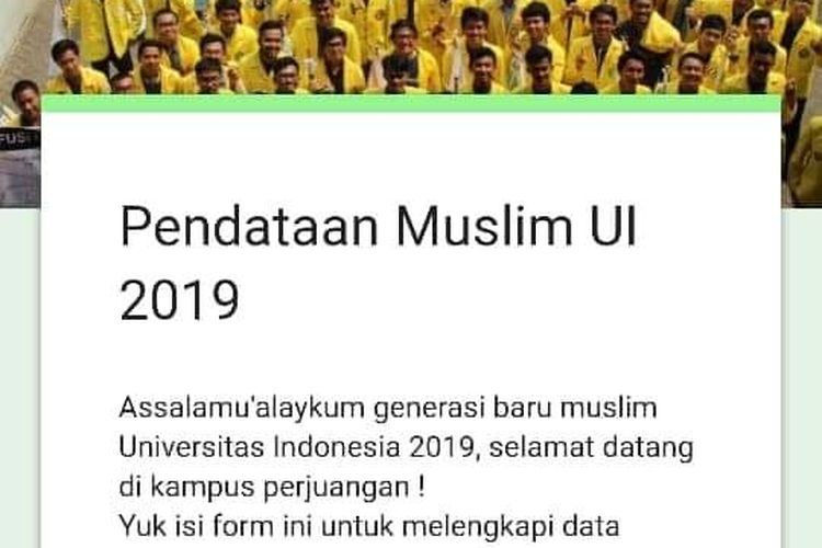 Ilustrasi Data Form UKM Salam UI