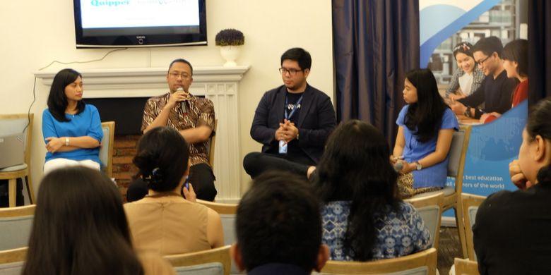 Kolaborasi Quipper Indonesia dan KoinWork mencari solusi problem pembiayaan pendidikan dalam diskusi yang digelar 11 November 2018 di Jakarta.