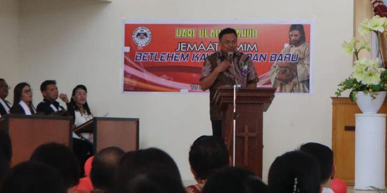 Gubernur Olly Puji Kebersamaan Jemaat GMIM Yarden Manado