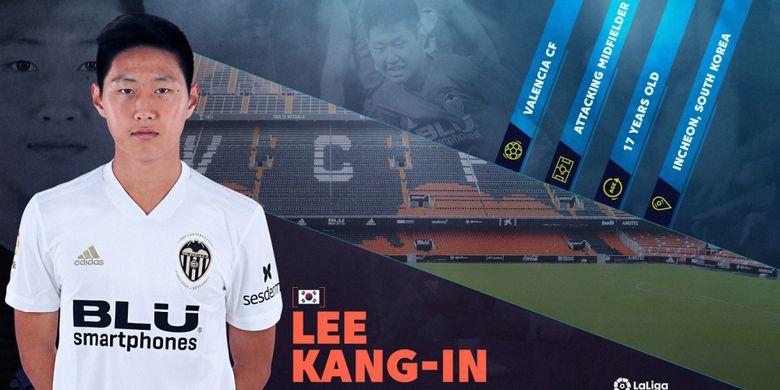 Pemain timnas U-19 Korea Selatan, Lee Kang-in berseragam Valencia.