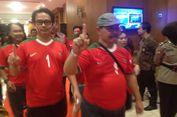 Debat Publik, Pendukung Ganjar-Taj Yasin Kenakan Kaus Timnas Indonesia