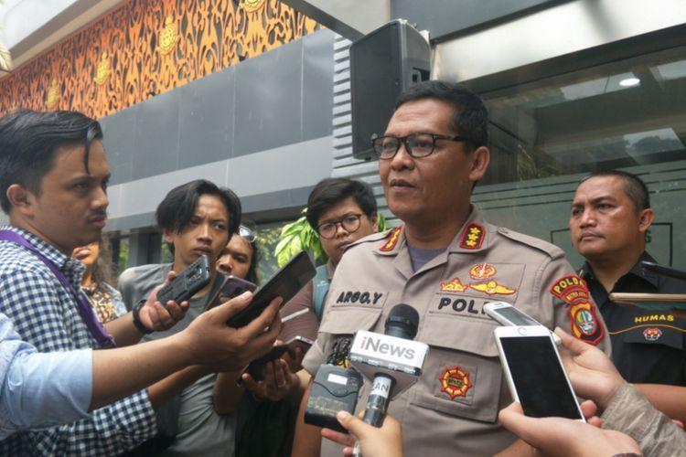 Kabid Humas Polda Metro Jaya Kombes Argo Yuwono di Mapolda Metro Jaya, Jumat (30/11/2018).