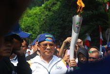 Menteri Rudiantara, Pelari Pertama Pembawa Obor Asian Games di Bogor
