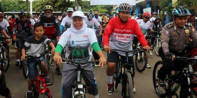 Jenis kegiatan olahraga dalam rangkaian Sepeda Nusantara 2018 etape Maros ini meliputi sepeda santai sejauh 10 Km, senam Ayo Olahraga, serta jalan santai yang diikuti oleh mayoritas guru, lantaran bertepatan dengan perayaan Hari Guru Nasional 2018.