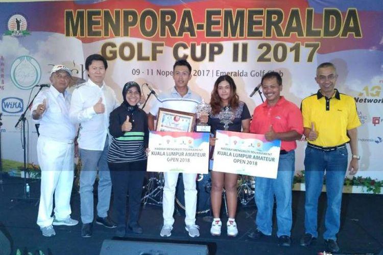 di sektor putri, Rivani Adelia Sihotang asal DKI Jakarta, tampil  sebagai juara setelah mencatatkan total pukulan 140 atau 4 dibawah par (-4).