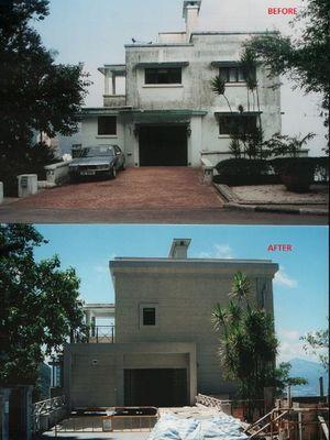 Perubahan rumah bernama The Peak milik Jack Ma di Hong Kong.