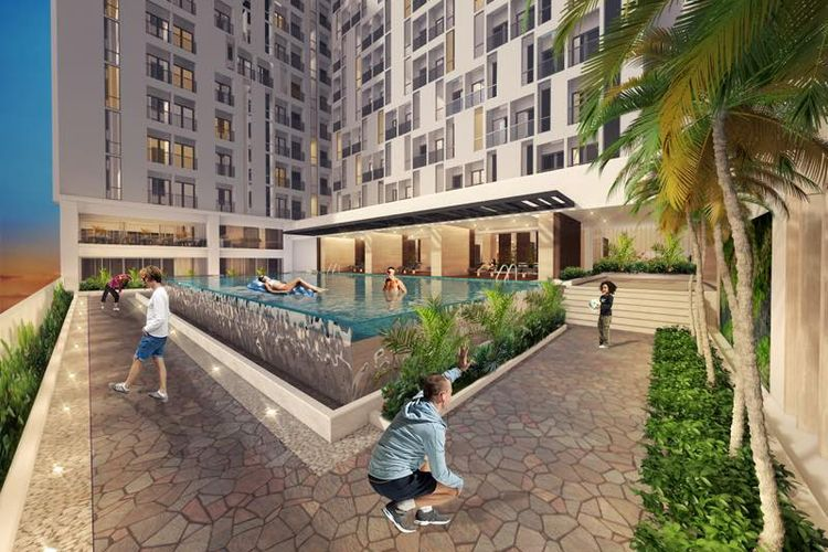 Rendering The Palm Regency Mall and Condominium