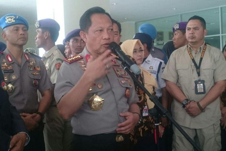 Kapolri Jenderal Tito Karnavian kepada awal media di Universitas Bhayangkara, Kota Bekasi, Kamis (27/9/2018).