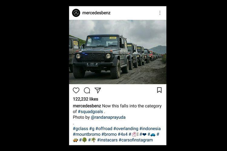 Foti dokumentasi komunitas Mercedes Jip Indonesia yang diunggah di akun Instagram Mercedes-Benz.