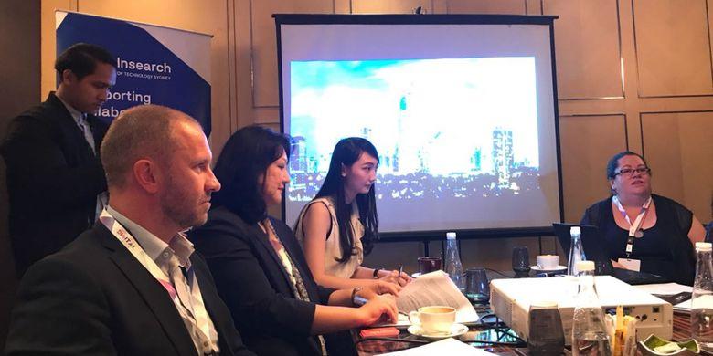 Pembahasan kolaborasi Insitut Teknologi Bandung (ITB) dari Indonesia dengan University of Technology Sydney (UTS) Australia tentang pengembangan Kota Cerdas atau Smart City, Rabu, (31/1/2017) di Jakarta.