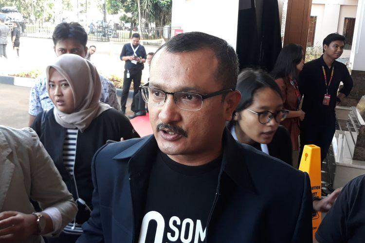 Juru bicara Badan Pemenangan Nasional pasangan Prabowo Subianto-Sandiaga Uno (BPN) Ferdinand Hutahaean di Hotel Sultan, Jakarta, Minggu (17/2/2019).