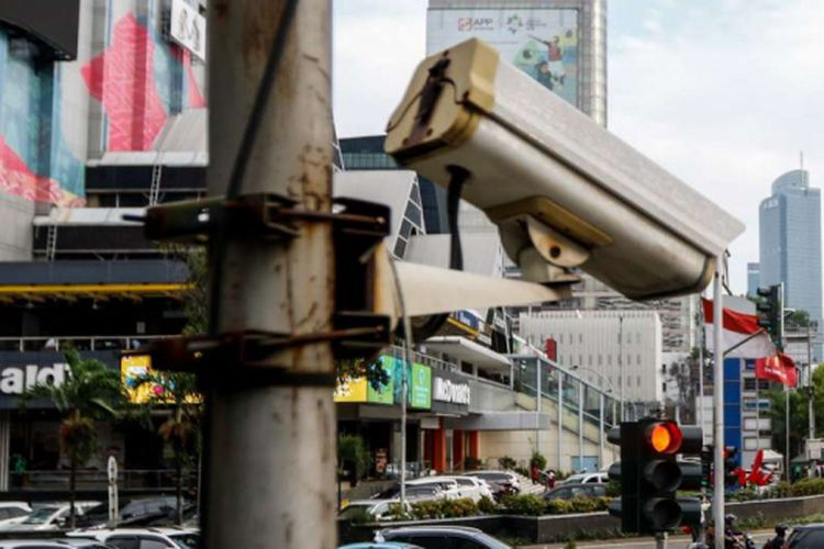 Ilustrasi CCTV lalu lintas.