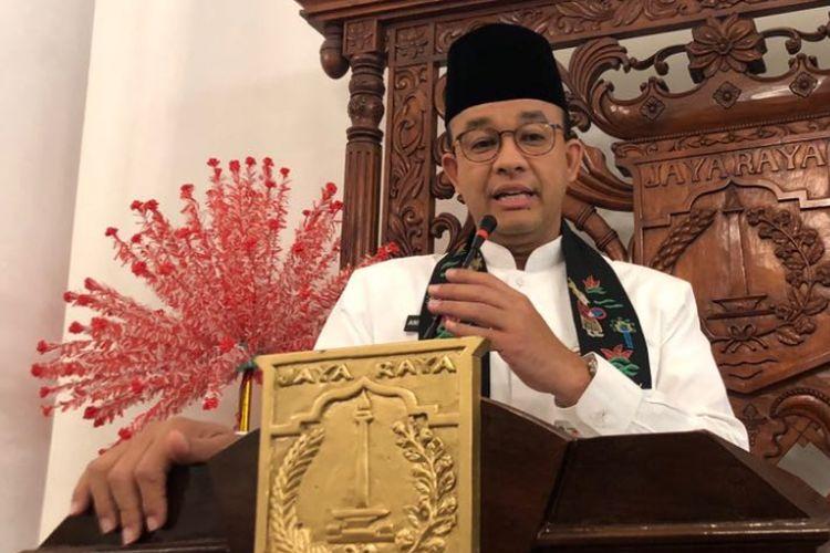 Gubernur DKI Jakarta Anies Baswedan di Balai Kota DKI Jakarta, Jalan Medan Merdeka Selatan, Jumat (20/7/2018).
