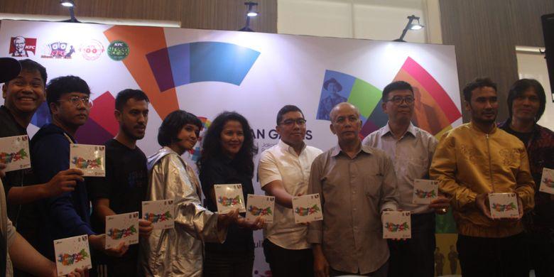 Peluncuran Album Asian Games 2018 di restoran siap saji KFC Kemang, Jakarta Selatan. Dihadiri oleh berbagai pihak mulai dari Inasgoc, ASIRI, Jagonya Music dan Sport, Marketing KFC, serta para musisi dan penyanyi official song Asian Games 2018