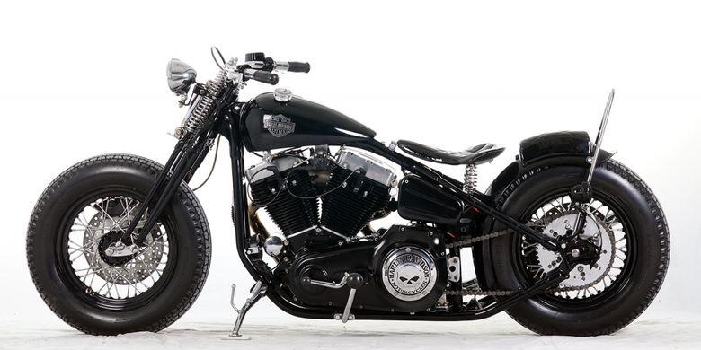Kustom Harley Bobber Suryanation Motorland Makassar