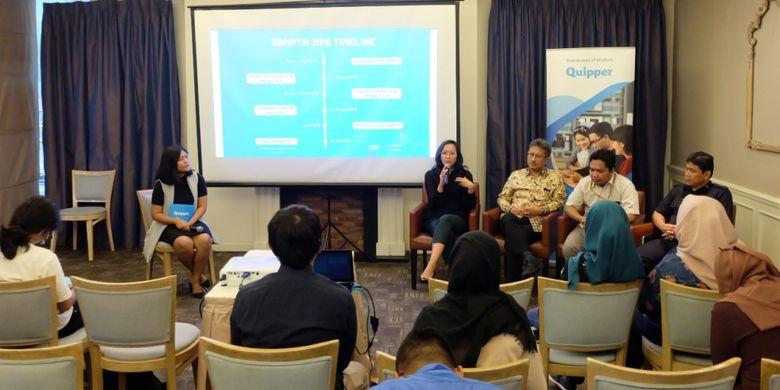 Edutech Quipper Indonesia menggelar diskusi pendidikan jelang SBMPTN 2019 di Kuningan, Jakarta (19/2/2019).