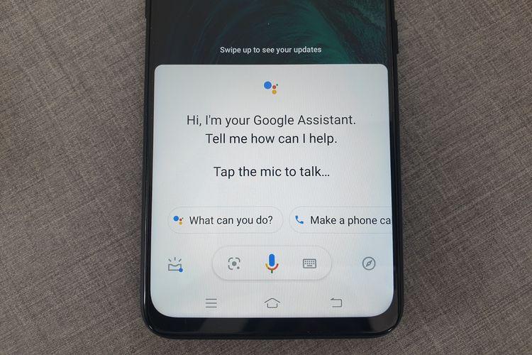 Ilustrasi Google Assistant di ponsel