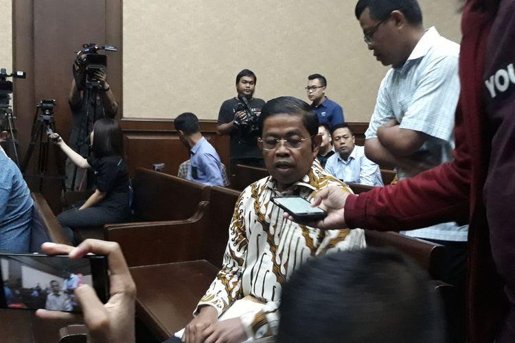 Mantan Sekjen Partai Golkar, Idrus Marham di Pengadilan Tipikor Jakarta, Selasa (15/1/2019).