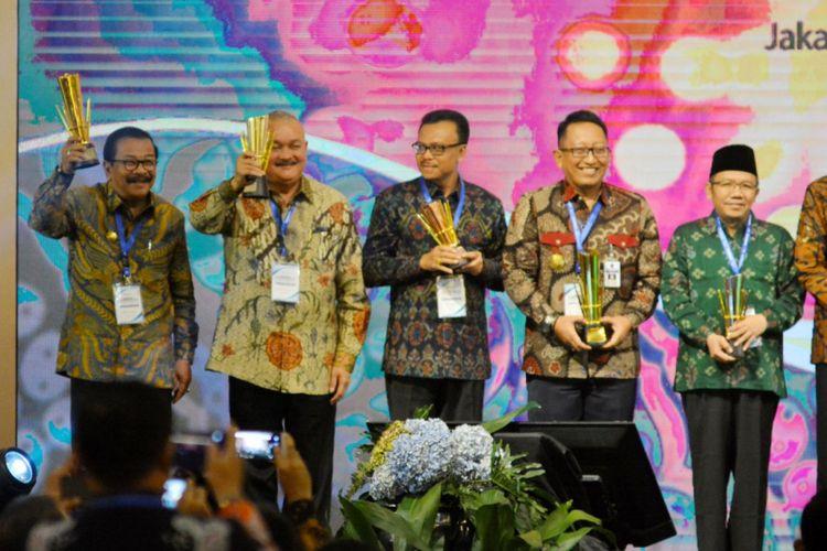 Pemerintah Provinsi Sumatera Selatan meraih Penghargaan Pembangunan Daerah (PPD) tahun 2018 kategori perencanaan dan pencapaian terbaik kedua tingkat Provinsi se-Indonesia di Hotel Grand Sahid Jaya, Senin (30/4/2018).