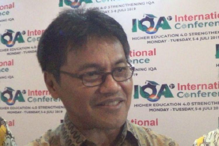 Sekretaris Jenderal Kementerian Riset, Teknologi, dan Pendidikan Tinggi Ainun Naim dalam acara Hari Kebangkitan Teknologi Nasional (Hateknas), Senin (5/8/2019).