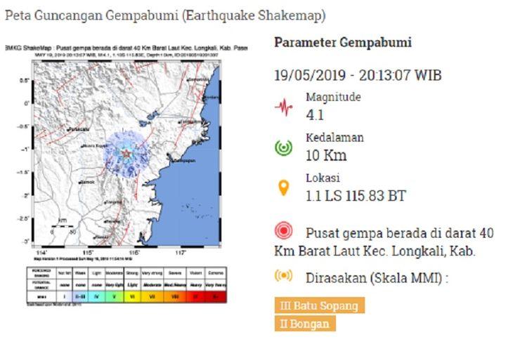 Gempa Kalimantan Timur