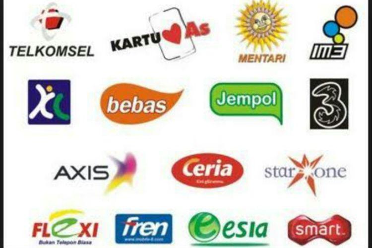 Ragam merek kartu perdana yang pernah dan masih ada di Indonesia.