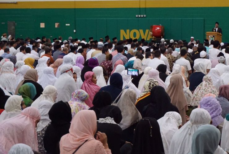 3.000 Warga Indonesia Shalat Ied di IMAAM Center Virginia, AS