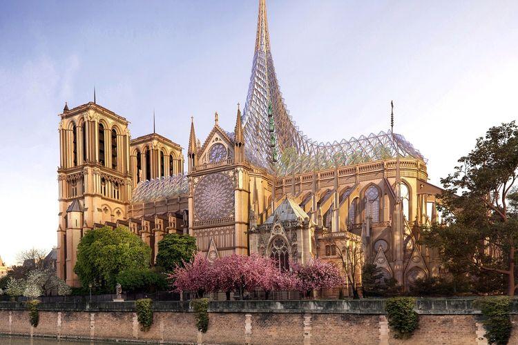 Desain berkonsep ramah lingkungan untuk Katedral Notre-Dame.