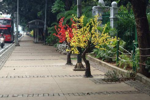 Pohon Plastik yang Viral Pernah Dipasang di Thamrin saat Tahun Baru 2018