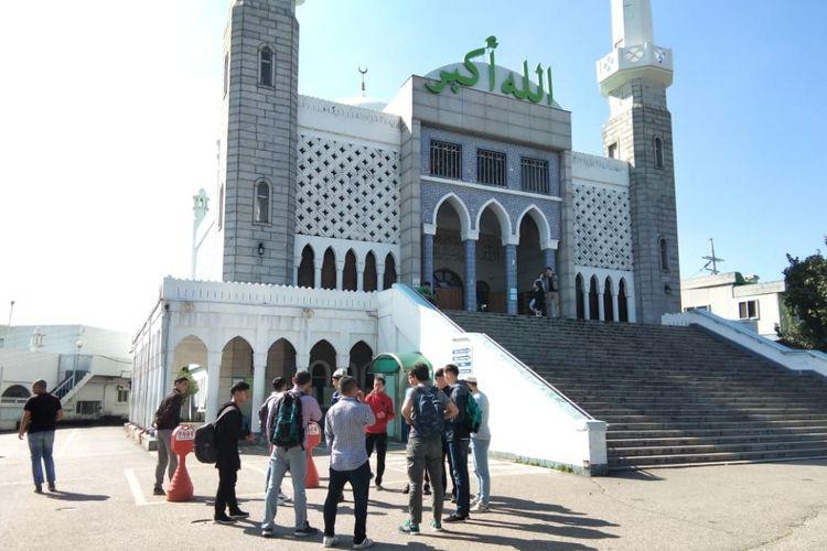 Seoul Central Mosque di Itaewon, Seoul, Korea Selatan.