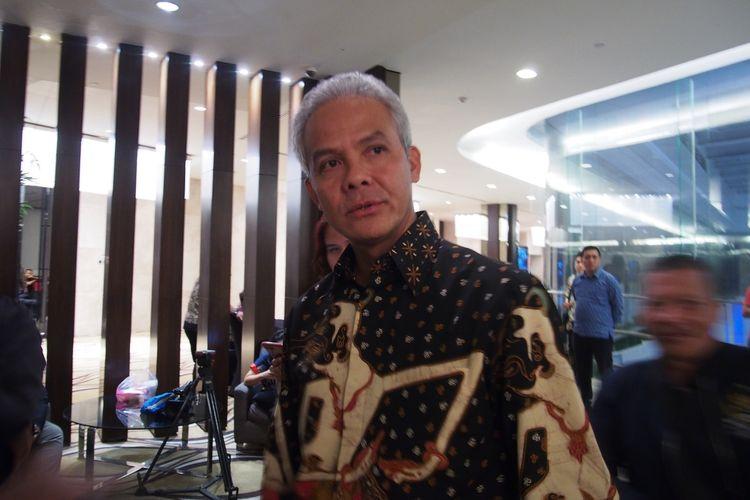 Gubernur Jawa Tengah, Ganjar Pranowo. Gambar diambil di Semarang, Jawa Tengah, Kamis (13/2/2020).
