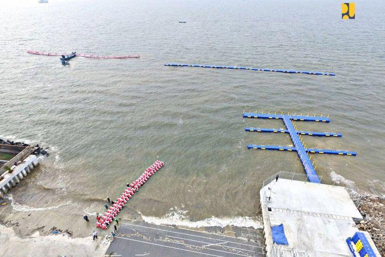 Pembangunan venue layar di Pantai Barat Ancol yang akan digunakan untuk Asian Games XVIII hampir selesai.