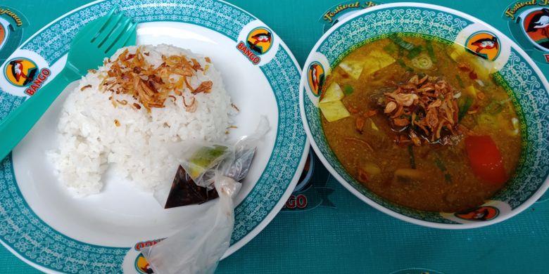 Tongseng Iga yang ada di Festival Jajanan Bango 2018, di Park & Ride Thamrin 10, Jakarta, Sabtu (14/4/2018). Lebih dari 80 gerai kukiner otentik Nusantara dihadirkan dalam festival kuliner ini.