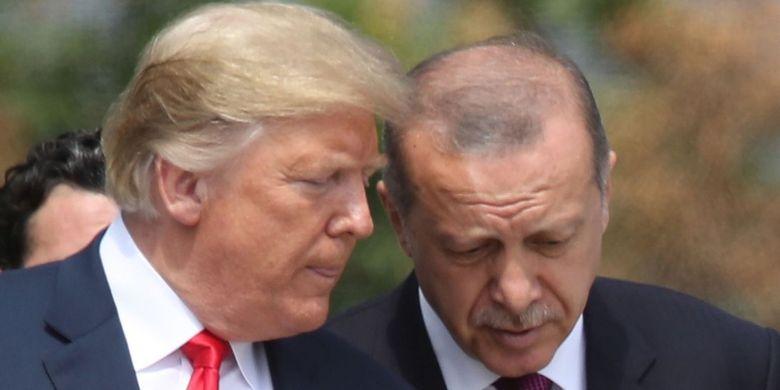 Presiden Amerika Serikat Donald Trump dan Presiden Turki Recep Tayyip Erdogan.