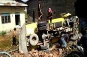 Truk Tangki Tabrak Rumah, Minyak Sawit yang Dimuat Tumpah Cemari Lingkungan