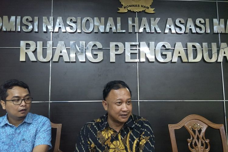 Komisioner Komnas HAM Choirul Anam di Kantor Komnas HAM, Menteng, Jakarta Pusat, Jumat (31/5/2019)