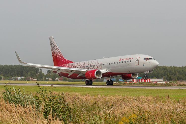 Sebuah pesawat milik maskapai Rossiya Airlines.