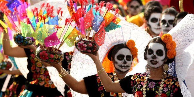 Dia de los muertos, festival kematian di Meksiko.