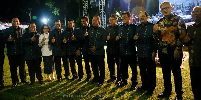Menteri Riset, Teknologi dan Pendidikan Tinggi (Menristekdikti) Mohamad Nasir saat membuka secara resmi Konvensi Nasional Pendidikan (Konaspi) ke-IX di Universitas Negeri Padang (UNP), Padang (13/03/2019).