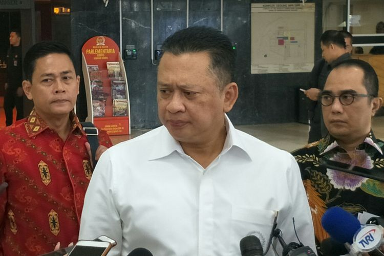 Ketua DPR Bambang Soesatyo di Kompleks Parlemen, Senayan, Jakarta, Rabu (4/7/2018)
