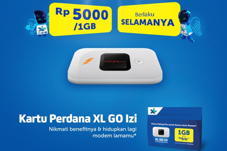 Ilustrasi Kartu Perdana XL GO Izi