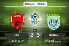 Hasil Liga 1, Drama 5 Gol, Persela Kalahkan PSM di Makassar