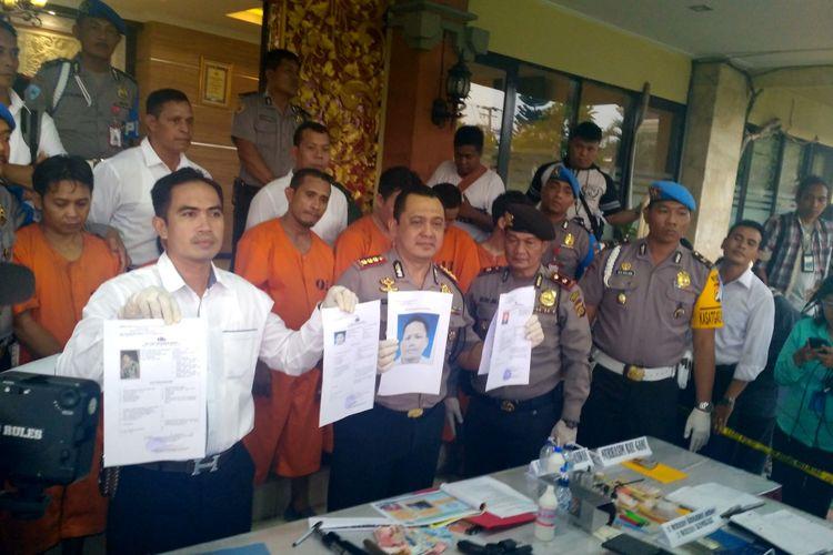 Kapolresta Denpasar Kombes Hadi Purnomo memberikan keterangan pers terkait kasus wakil ketua DPRD Bali yang terlibat kasus narkoba.